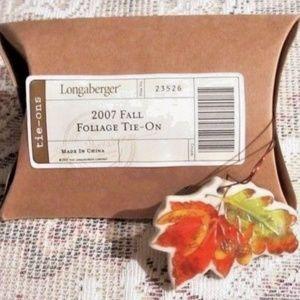 Longaberger Basket FALL FOLIAGE Tie On Charm 2007